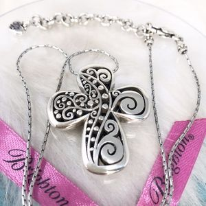 Brighton Filigree Swirl Design Cross Necklace